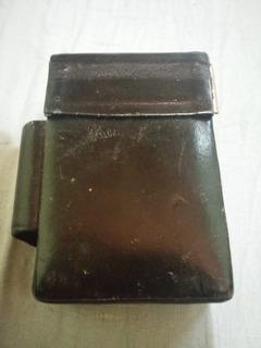 Porta Cigarro Cigarrera Metal Semicuero (wicom)