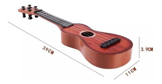 Guitarra Ukelele Infantil Simil Madera 39 Cm Juguete Niño