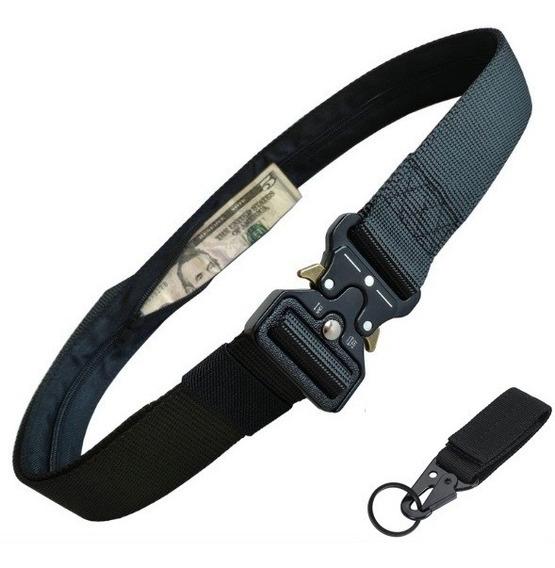 Cinturón Táctico Con Bolsillo Oculto Asalto Militar + Regalo