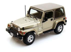 Jeep Wrangler Sahara Caqui - Escala 1:18 - Bburago