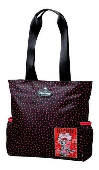 Bolsa Tote Bag Moranguinho Preta Square Pocket