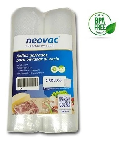 Rollo Bolsa Gofrada Para Vacio Neovac Pack 2 X20x500 Cm