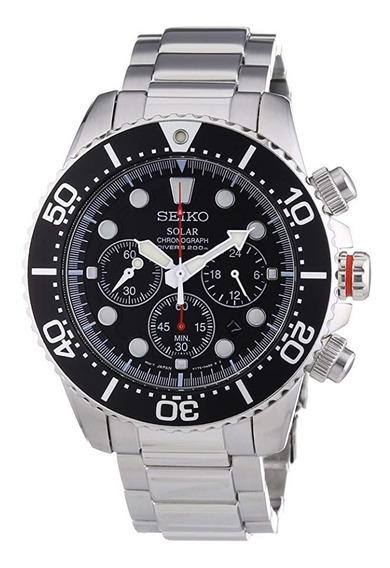Seiko Ssc015p1 Reloj Solar Cronógrafo De Acero Inoxidable Pa