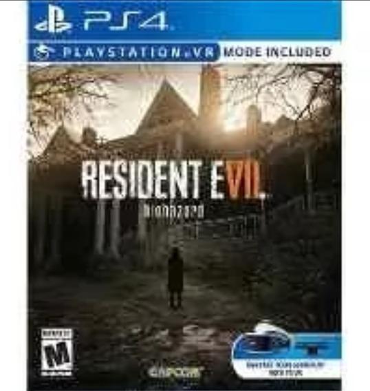 2 Jogos. Resident Evil 7 Seminovo E Mass Effect Lacrado Ps4