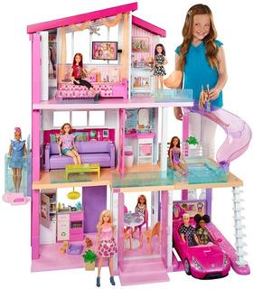 La Casa De Los Sueños De Barbie Muñecas Niña Rosada Mattel
