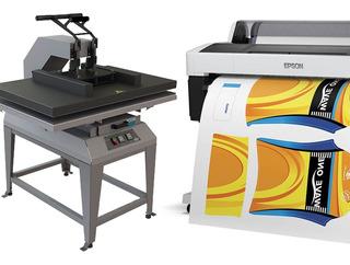 Plotter Epson Y Prensa Metalnox Para Sublimación Con Iva