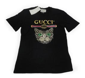 Camiseta T-shirt Gucci Cat By Firenze Feminina Fotos Reais