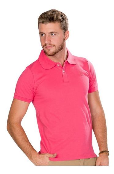 Playeras Polo Hombre Casual Moda Rosa Lisa A90100