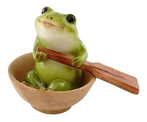 Imagen 1 de 3 de Top Collection Miniature Fairy Garden Y Terrarium Frog Estat