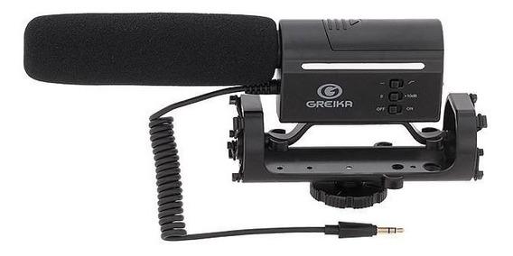 Microfone Direcional Para Câmeras Dslr Gk-sm10