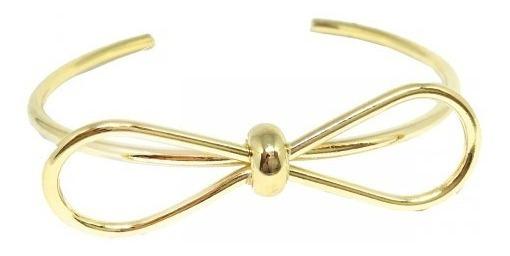 Bracelete Feminino De Lacinho Banhado A Ouro