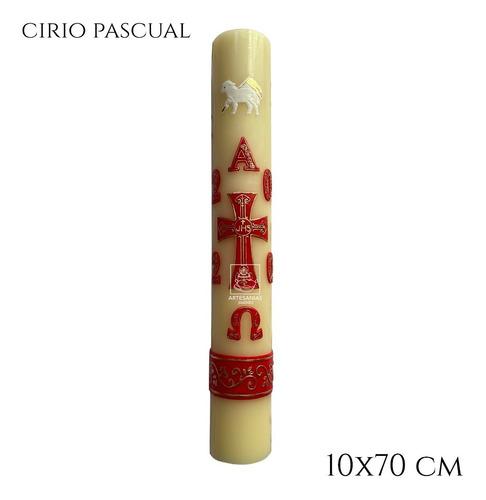Imagen 1 de 6 de Cirio Pascual 10x70 Grande Decorado