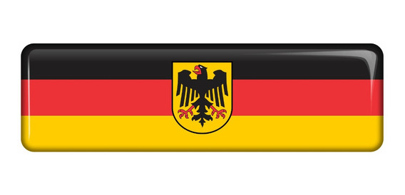 Emblema Adesivo Resinado Volkswagen Bandeira Alemanha Fgc