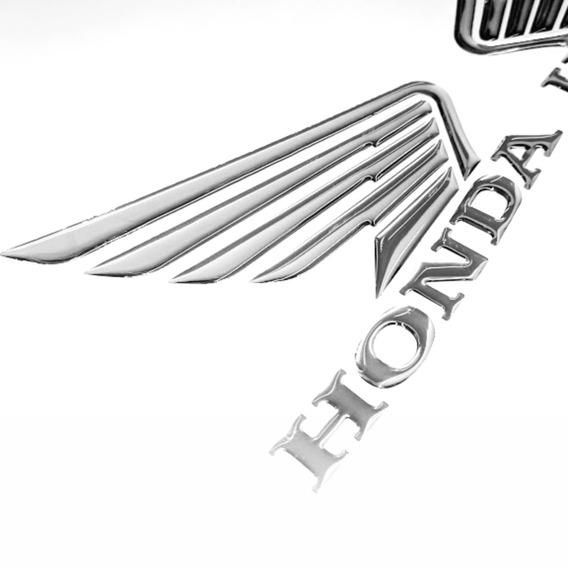 Adesivos Asa Honda Resinado 3d Tanque Titan Em Cromado Asa4