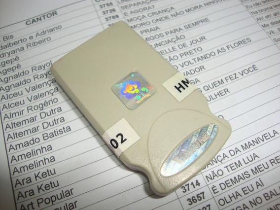 Cartucho Original Hmp 02 Videoke Raf 3700 Com 340 Musicas