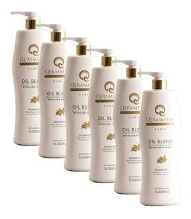 Paquete 6 Shampoo Nutrición 1 L Tratamiento Suavidad Oil