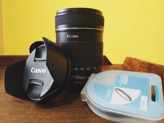 Lente Canon 18-135mm 3.5-5.6 Is Com Parasol