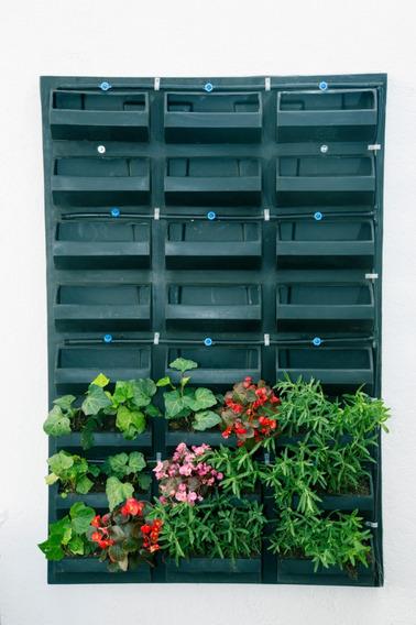 Panel Modular Plástico Para Muros Verdes Naturales