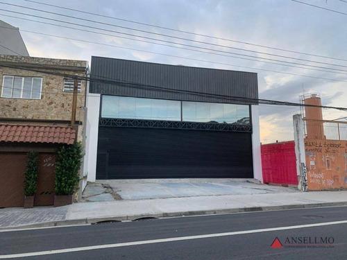 Salão Para Alugar, 420 M² Por R$ 14.000,00/mês - Vila Baeta Neves - São Bernardo Do Campo/sp - Sl0435