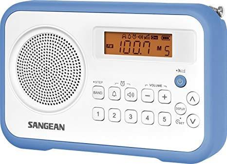 Rádio Receptor Sangean Pr-d18 Am/fm Branco/azul Importado