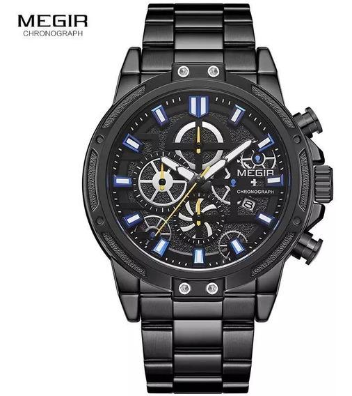 Relógio Masculino Megir, Luxo, Esportivo, Metal
