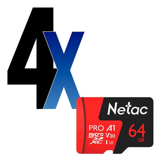 Cartão Memória Microsd 64gb Extreme Pro Netac 4un