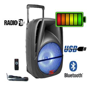 Bafle Potenciado Batería Recargable 12 200w Bluetooth Usb