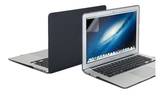 Kit 3x1 Macbook Air 13 Capa Case Protetor Tela Película A1369 1466
