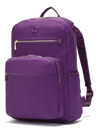 Mochila Delsey Adorable Porta Notebook 14 Violeta