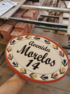Numeros Residenciales Letrero Para Casa Ovalado Talavera Med