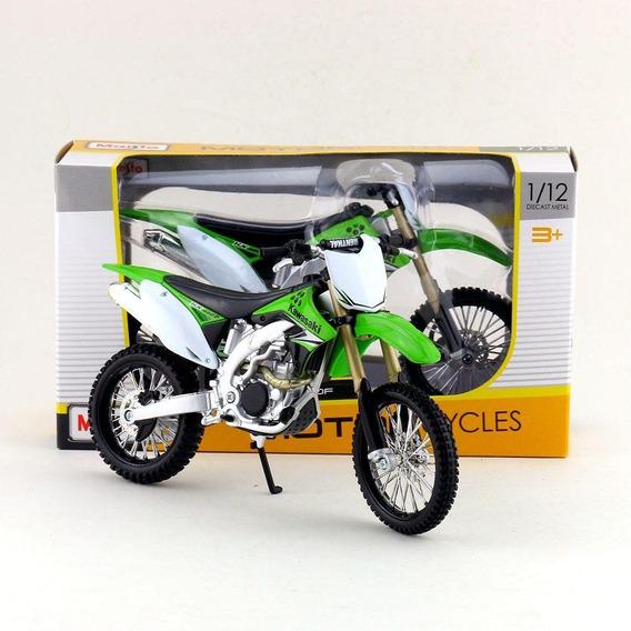 Miniatura Colecionável Kawasaki Kx 450f 1:12 Maisto