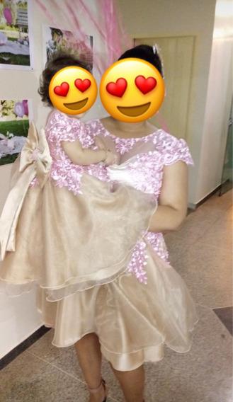 Vestido Mãe E Filha Princesa Realeza