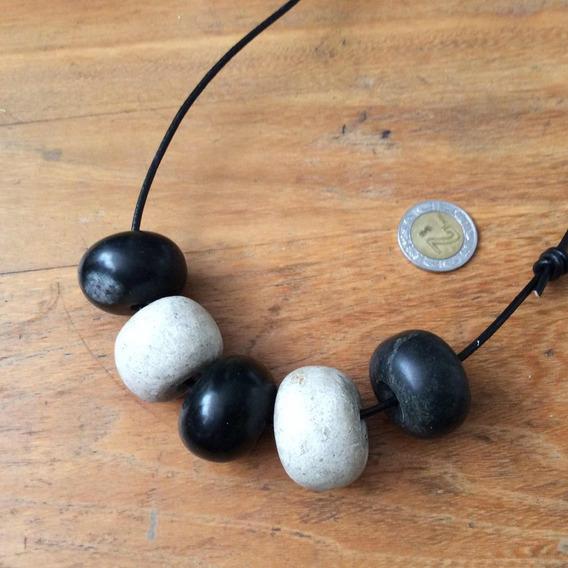 Collar Cuentas De Jade Y Calcita Chalchis Mexicano Antiguo