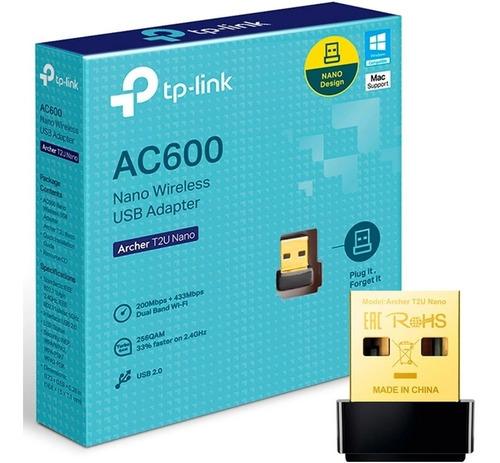 Imagen 1 de 1 de Adaptador Wifi Usb Tp-link Archer T2u Nano Ac600 Dual Band