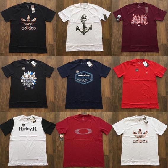 Kit 10 Camisetas Original Marcas Surf Moda Revenda Atacado