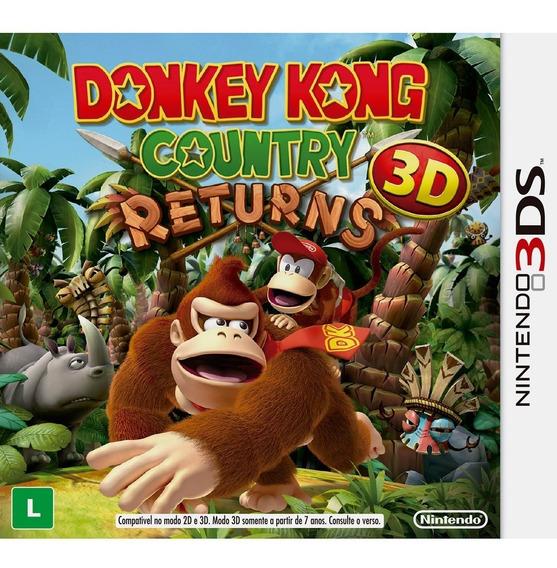 Jogo Donkey Kong Country Returns 3ds_nintendo 2ds_new