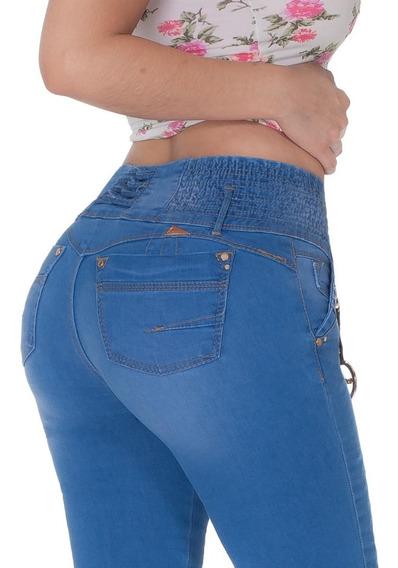 2 Pantalones Dama Levanta Pompa Colombiano Mayoreo Mezclill