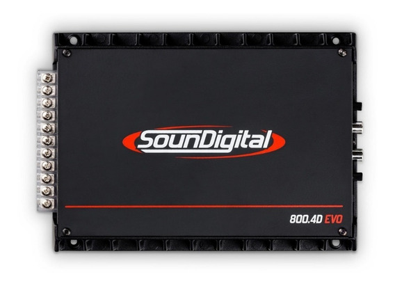 Amplificador Soundigital Sd800.4 4x200w Com Bridge 2ohms