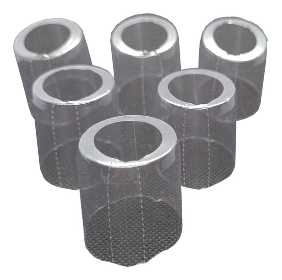 500 Lacres Incolor Termoencolhível Garrafa 31mm X 32mm