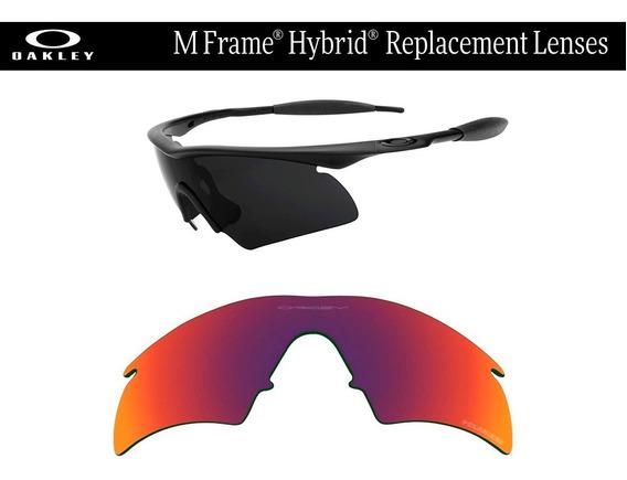 Mica De Reemplazo Para Oakley M Frame Hybrid Positive Red