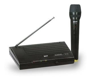 Microfono Inalambrico Skp Vhf695 40 Metros Karaoke