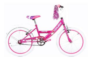 Bicicleta Nena Niña Top Mega Princess Rodado R20 Rosa