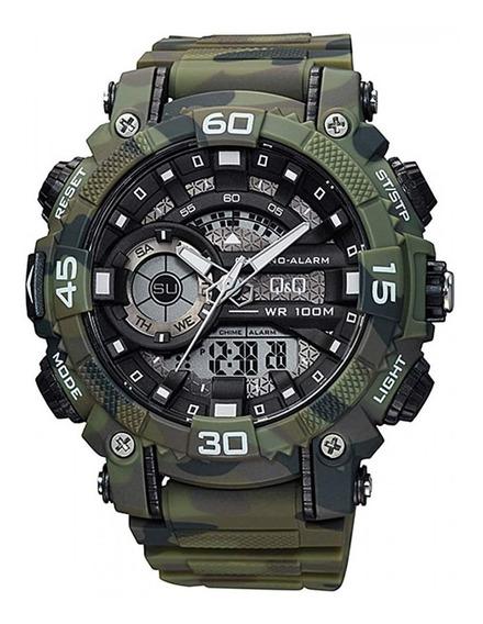 Reloj Shock Camuflado Q&q Original Gw87j007y