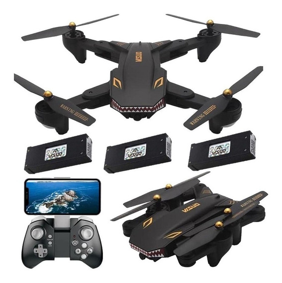Drone Visuo Xs809s Battles Sharks Câmera Wifi 720p Hd 1h Voo