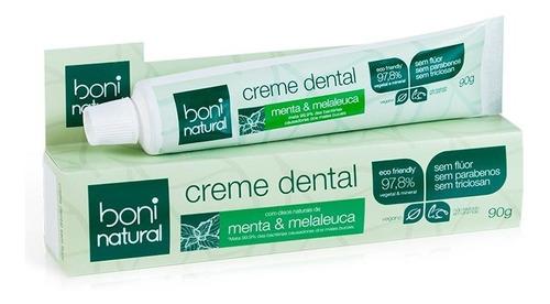 Creme Dental  Sem Flúor Menta E Melaleuca 90g