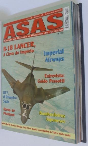 Revista Asas Do 1 Ao 86 Todas Encadernadas 2001 A 2015