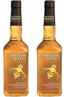 Whiskey Evan Williams Honey Oferta 2 Botellas Whisky Bourbon
