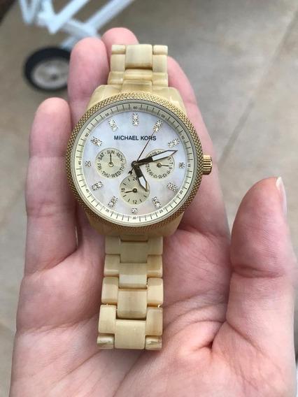 Relógio Michael Kors Mk 5039 Madrepérola Dourado