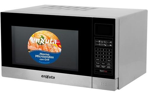 Microondas Digital Enxuta 23 L Grill Inoxidable Moenx323dgi