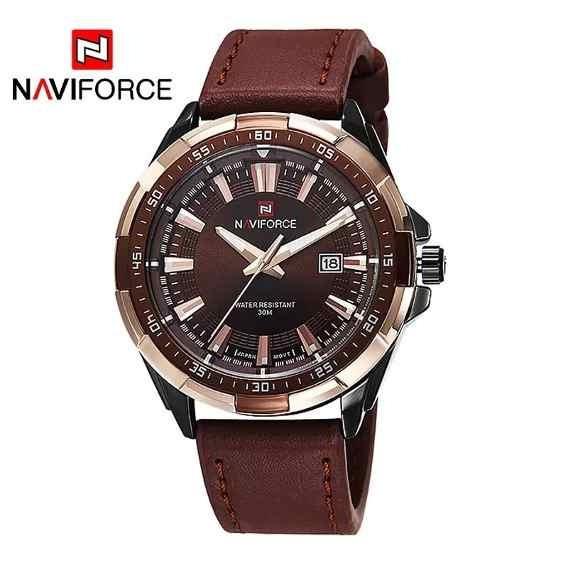 Relógio Naviforce Original Modelo Nf 9056 M - Marrom